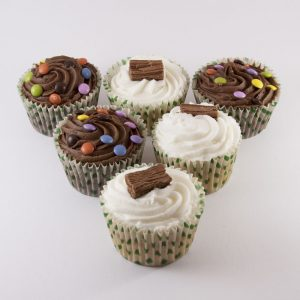 6pk Vanilla & Chocolate Cupcakes - Case of 4